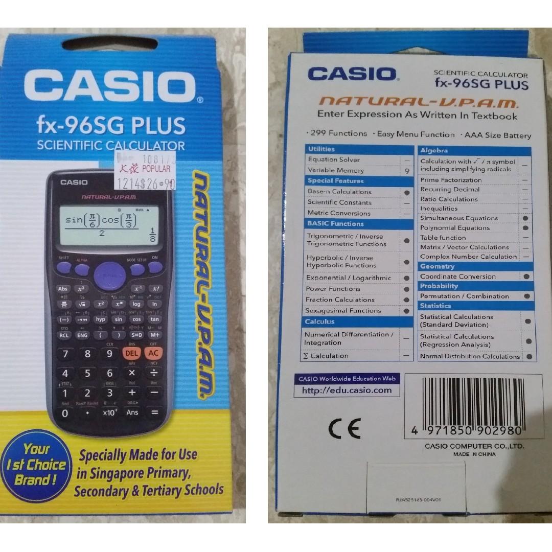 Brand New Casio Scientific Calculator Primary Secondary School