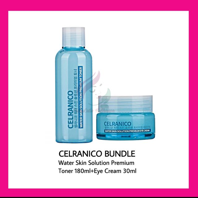 ⭕️BUNDLE⭕️ CELRANICO Water Skin Solution Premium Toner 180ml + Eye Cream 30ml