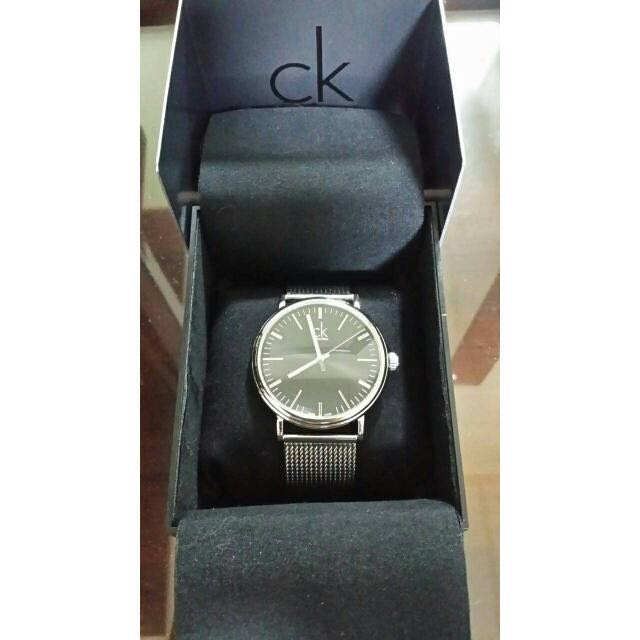 Calvin Klein CK 男錶 手錶 錶 K3W21121 cK Surround 經典大三針米蘭腕錶-黑/43mm