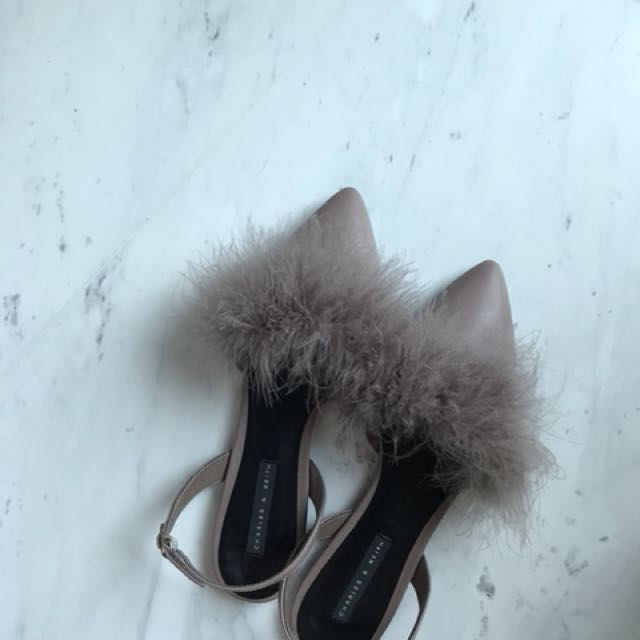 Charles and Keith Flat Fur Shoes