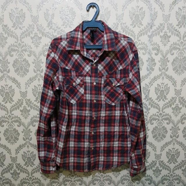 Checkered Polo (Red)