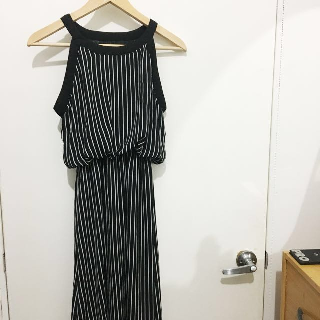 Chic Striped Summer Maxi Dress