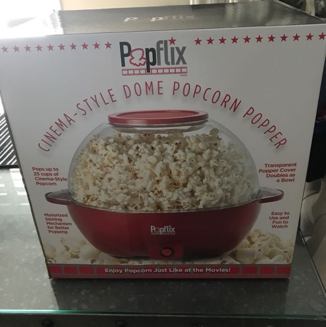 Cinema style popcorn maker. Never opened