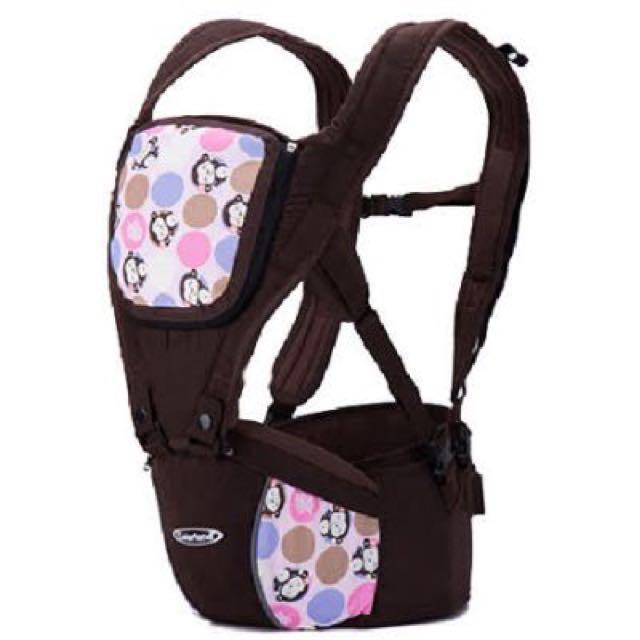 【Colorland】四季通用雙肩減壓可坐式嬰兒背帶