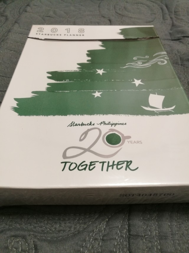 AUTHENTIC Completely Sealed Starbucks Planner 2018 (mini blue and orange)