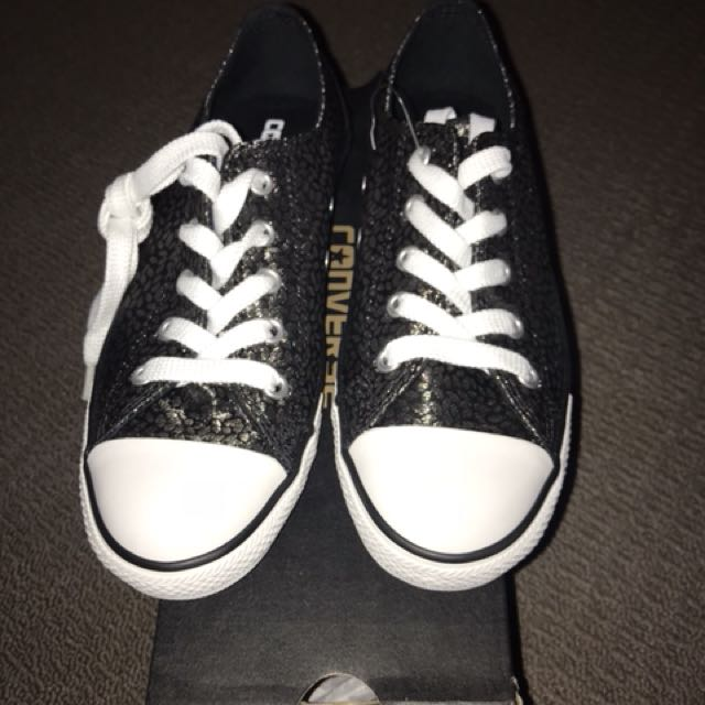 Converse black shoes