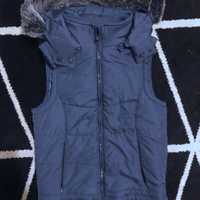 Cotton on Fur Hooded puffer