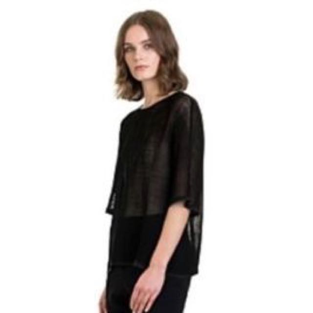 Country Road mesh top - size 16