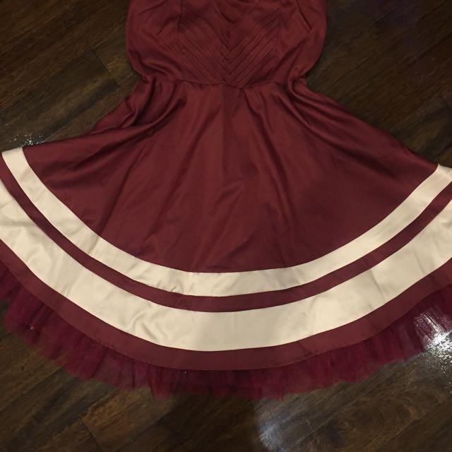 Cute princess style strapless dress