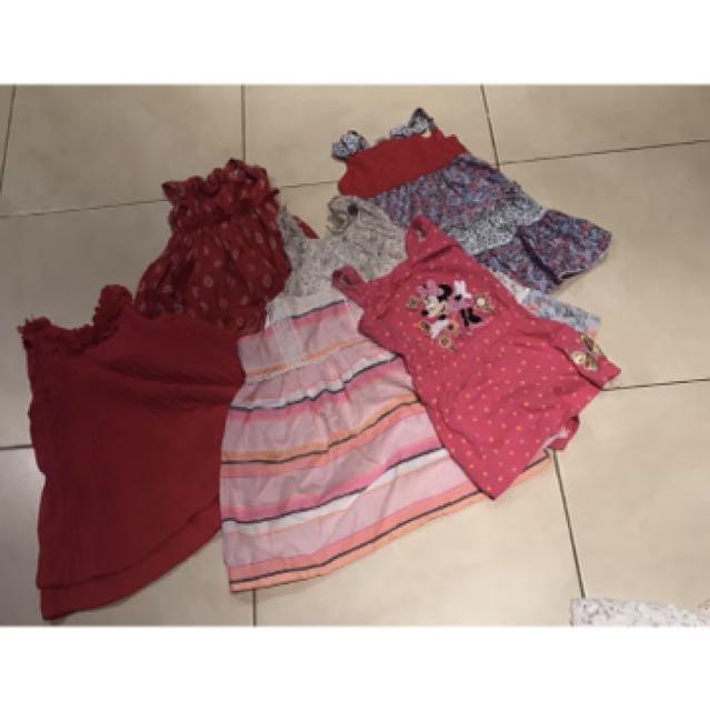 Dress bundle plus Disney play suit  6 items