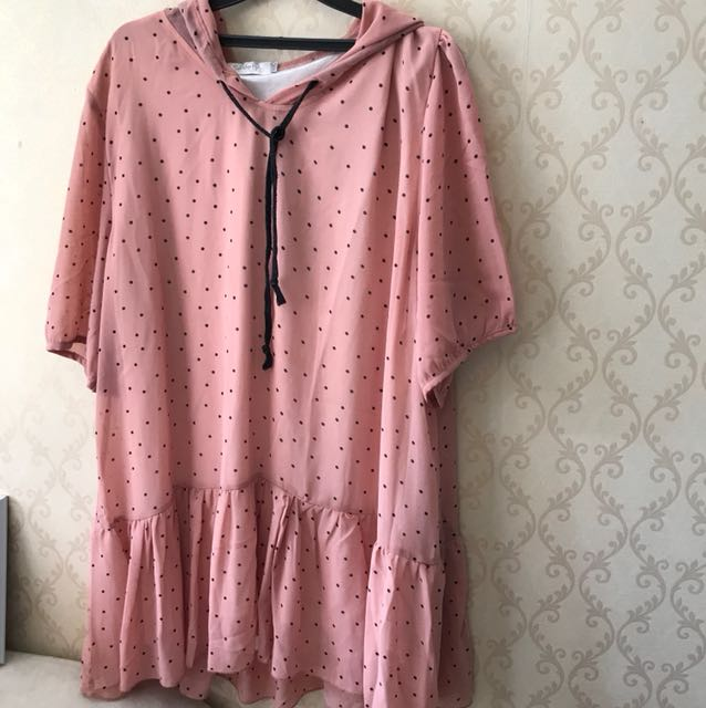 Dress pink polkadot