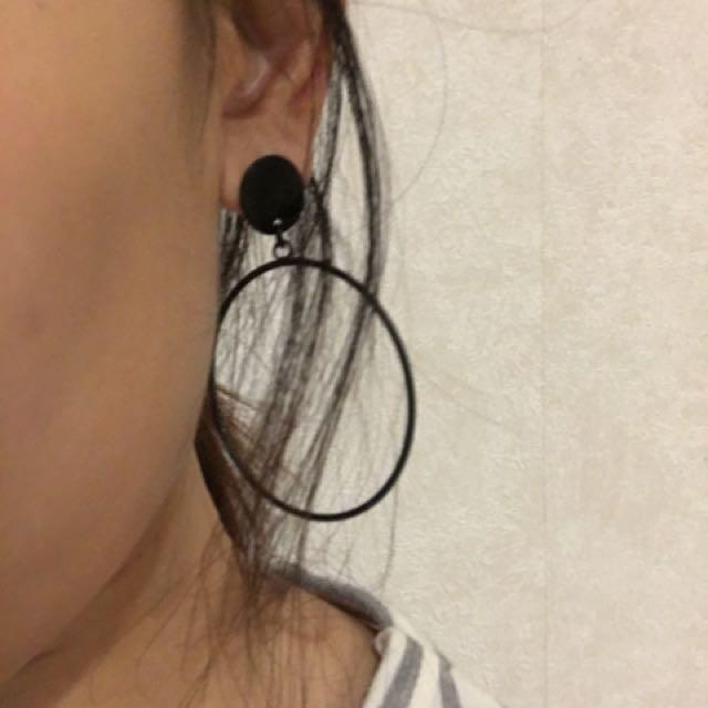 Fashion Black Circle ⚫️Earnings⚫️ 💁🏻