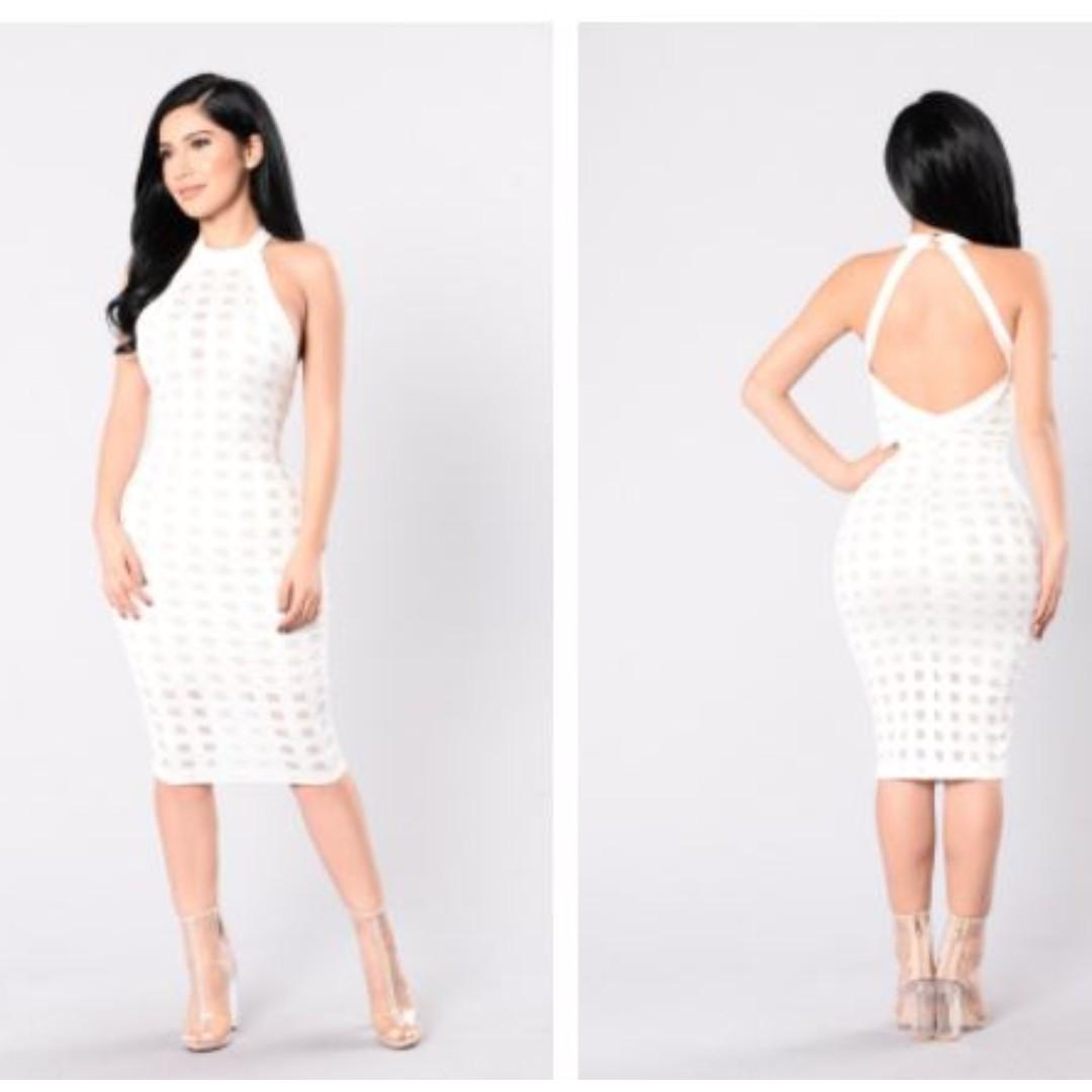 Fashion Nova Brickhouse Dress - White