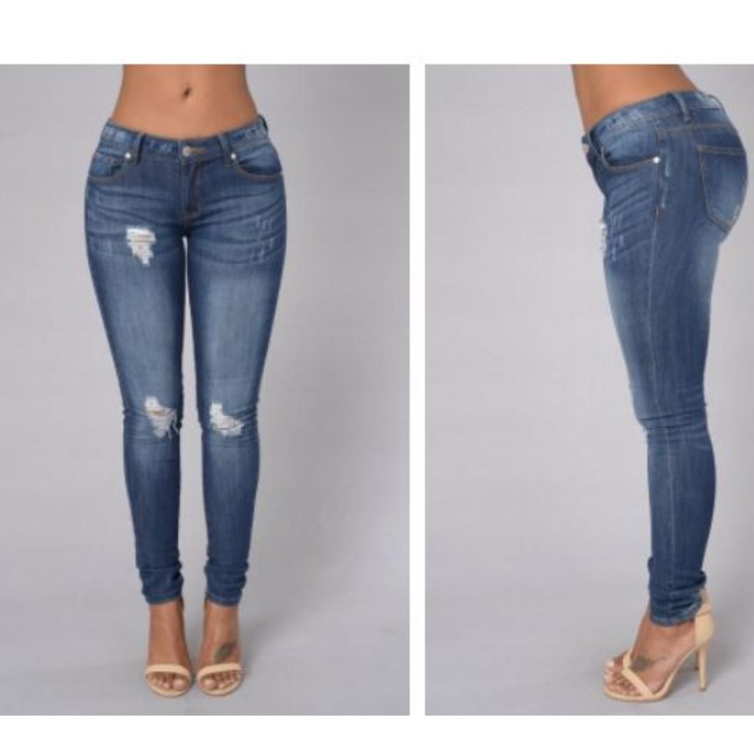 Fashion Nova Oh My God Becky Jeans - Dark