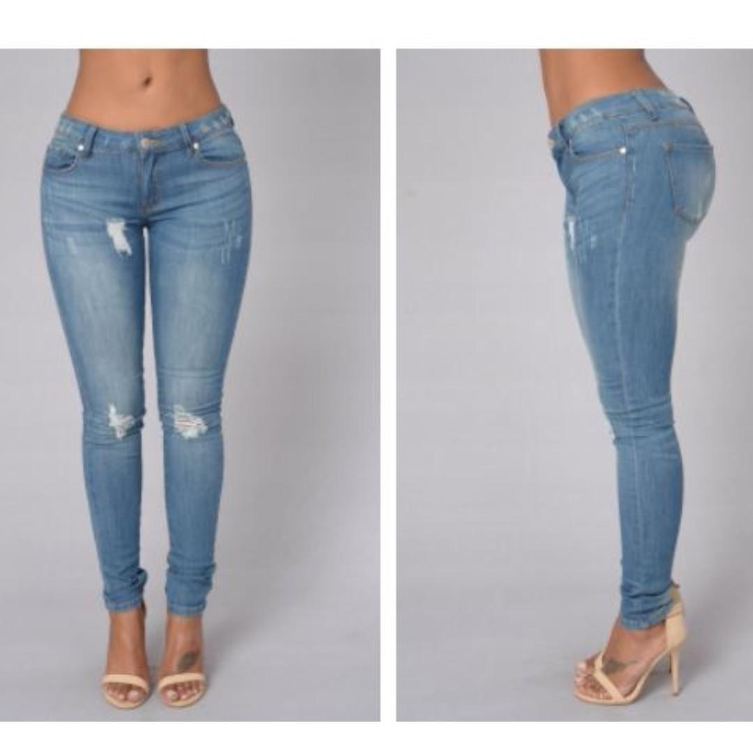 Fashion Nova Oh My God Becky Jeans - Light