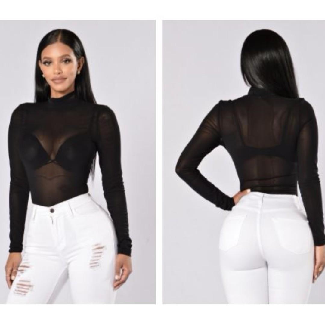 Fashion Nova Premiere Bodysuit - Black
