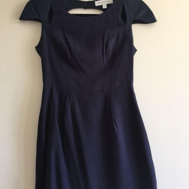 Finders Keepers Backless Navy Dress