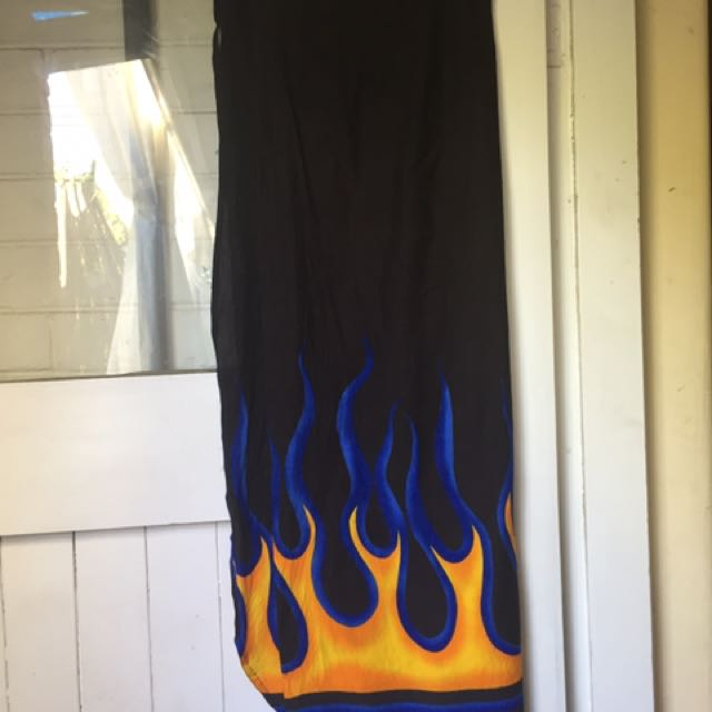 Flame 90's Wrap skirt