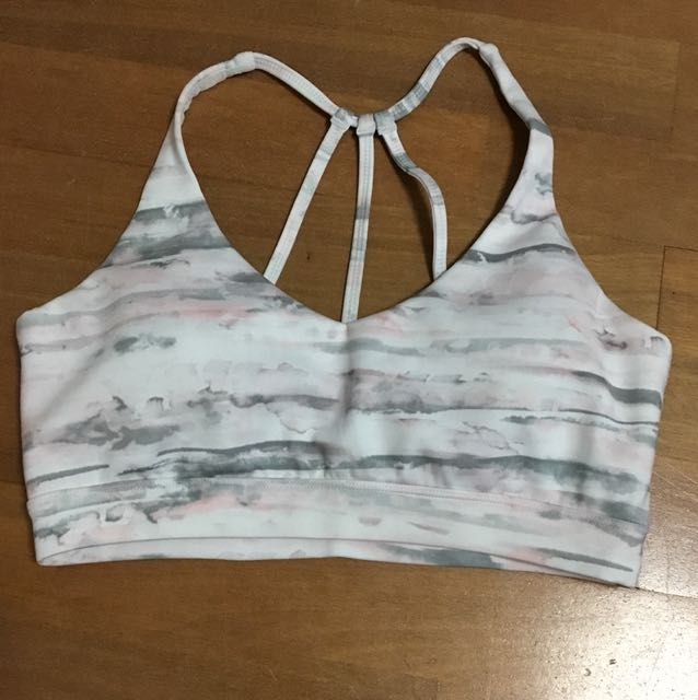 Forever New Active grey/pink crop top Size Small