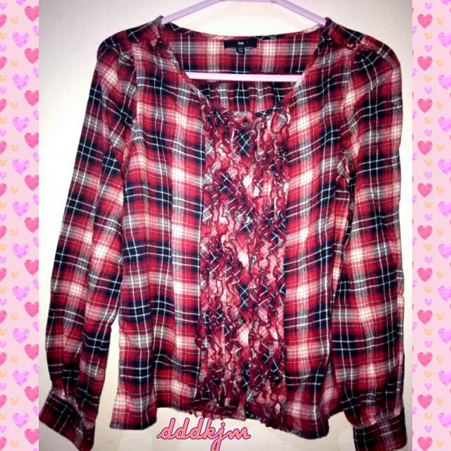 GAP Red Flanel Shirt ❤