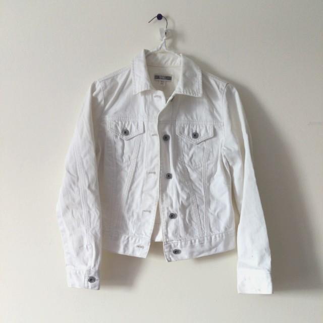 Gap white Jean jacket