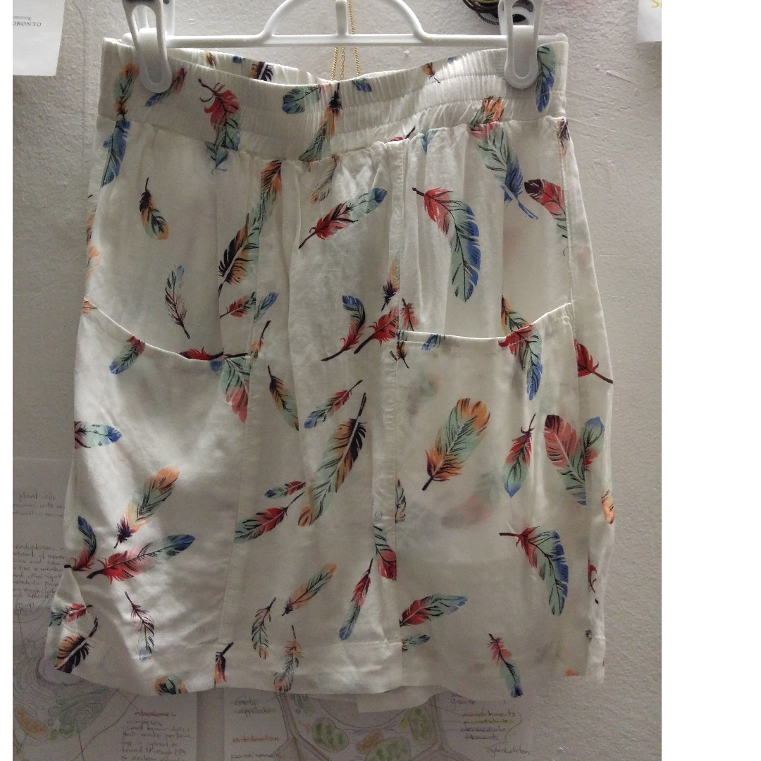 Garage feather patterned skirt