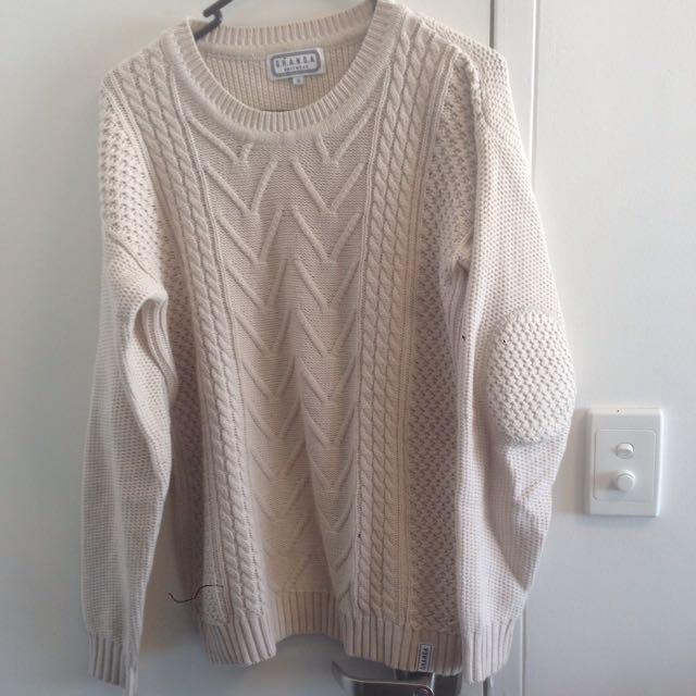 Ghanda Cream Knit Jumper