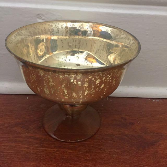 Gold Mercury Floral Vases