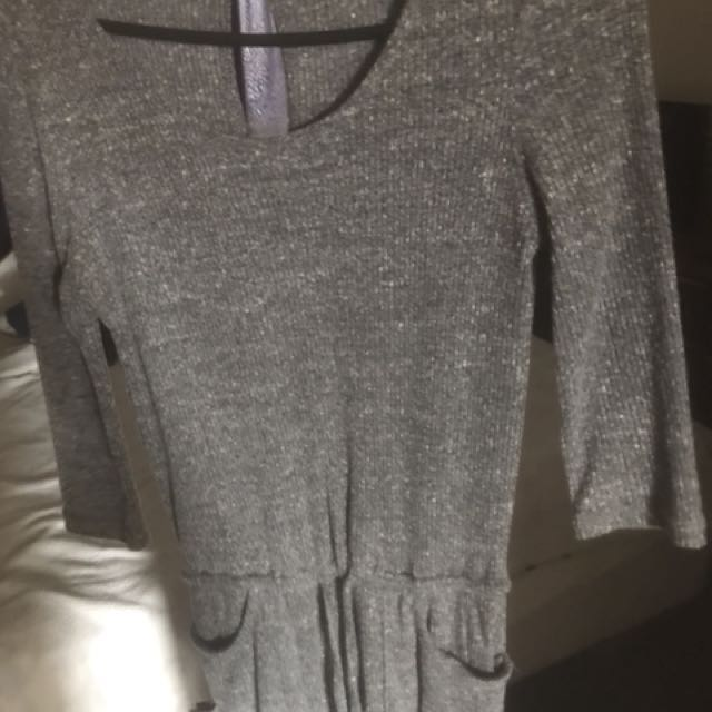 Grey chica booti jumpsuit
