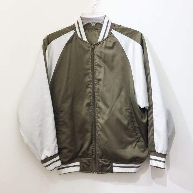 GU雙面穿時尚棒球外套.夾克 s號