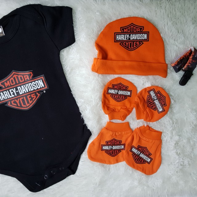 Harley Davidson Baby Clothes Delectable Harley Davidson Baby Gift Set Gift Ideas
