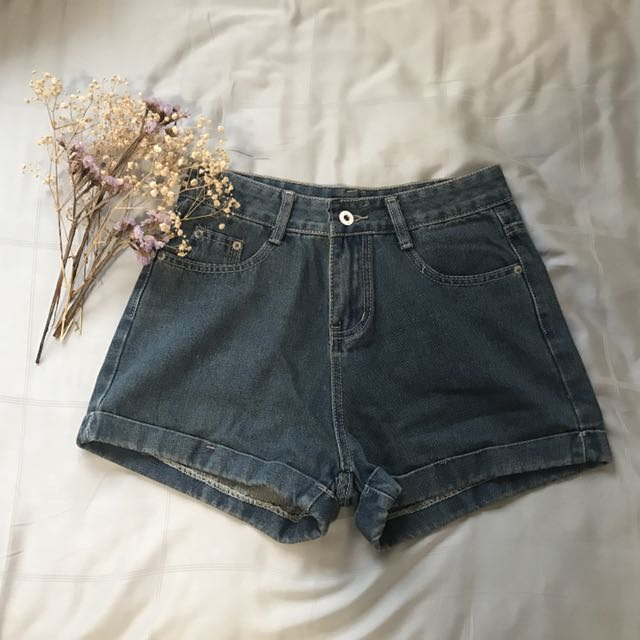 High waisted Denim Mom Shorts