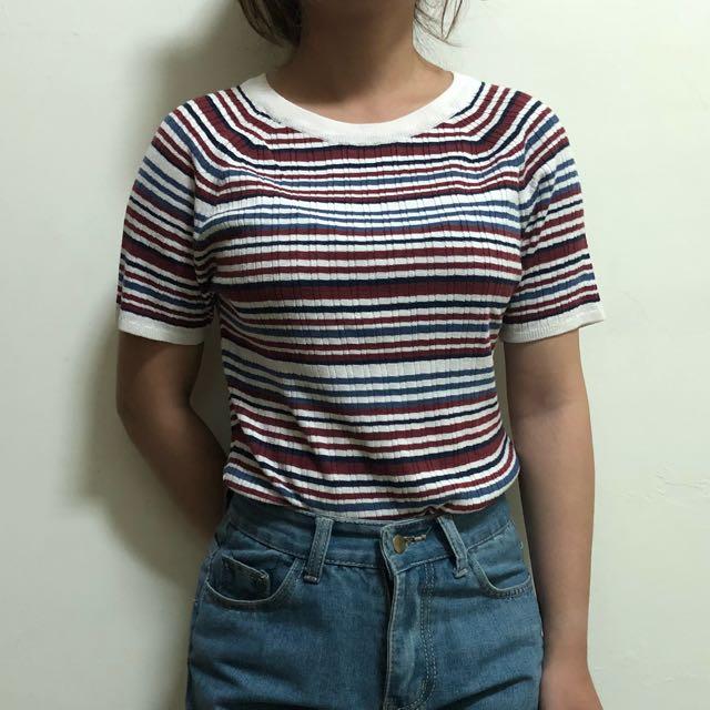 H&M條紋上衣