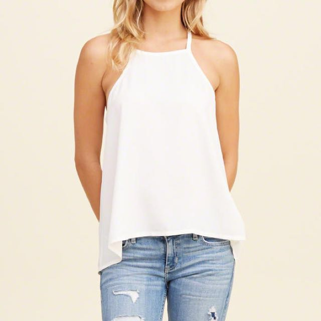 Hollister Must Have High Neck Woven Cami
