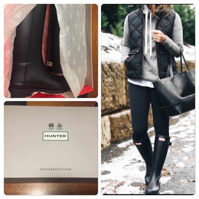 Hunter Boots brand new unworn black