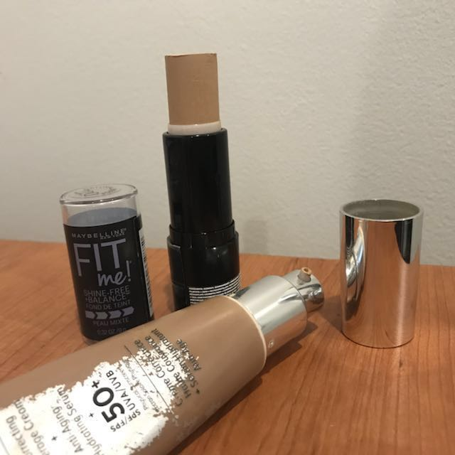 IT Cosmetics Your Skin But Better CC Cream + Maybelline Fit Me Foundation Stick