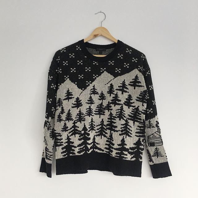 J.crew winter knit sweater | small