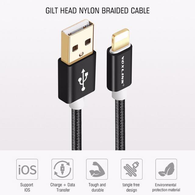 Kabel Data Iphone Ipad Mini Ipod Touch Voxlink Original
