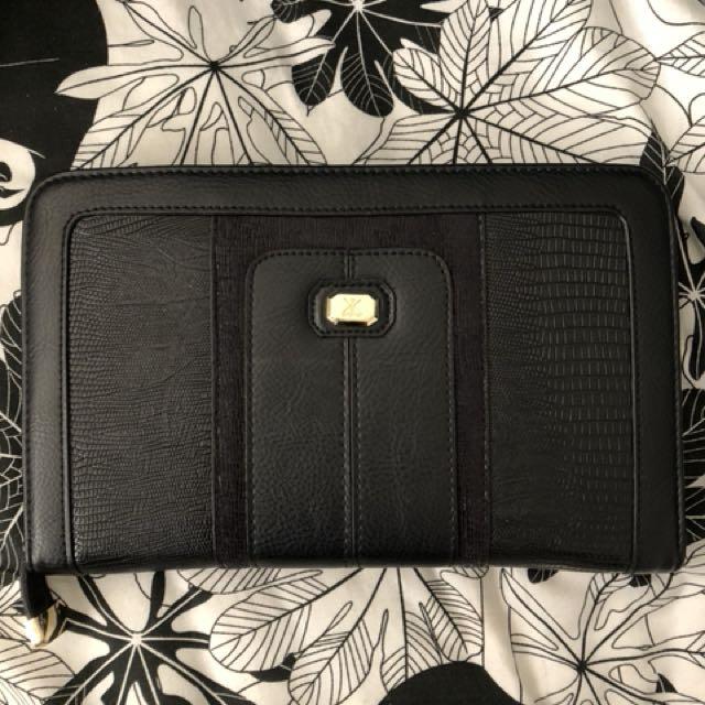 KARDASHIAN KOLLECTION Black Travel Wallet