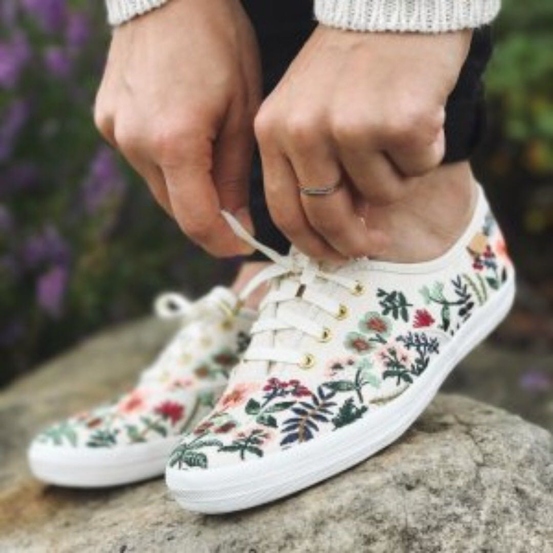 68b878c8175 Keds x Rifle Paper Co Limited Edition Herb Garden Embroidered Champion  Sneaker