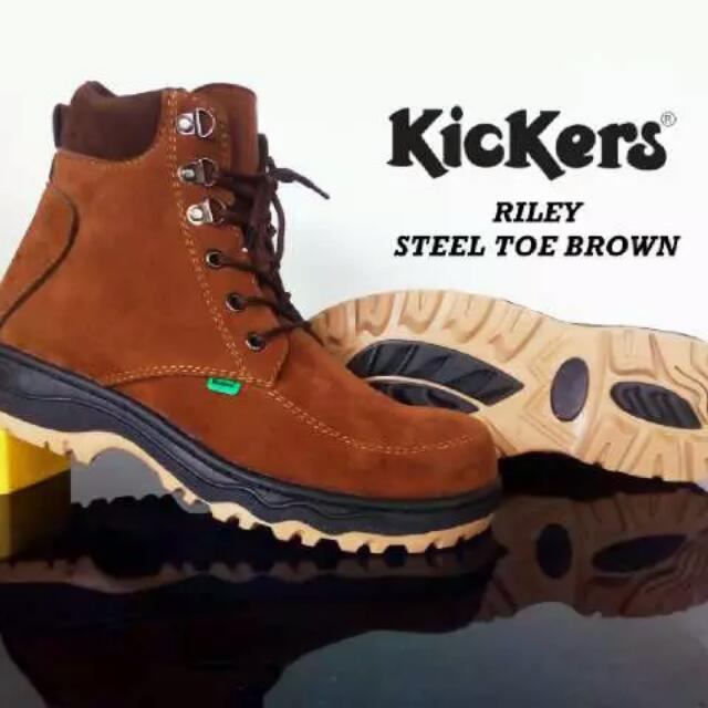 Kickers Riley Steel Shoes