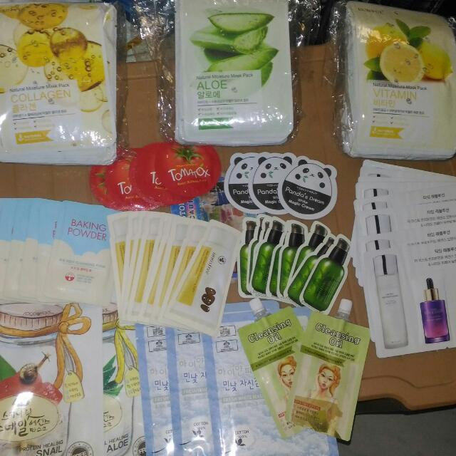 Korean Beauty Products On Hand