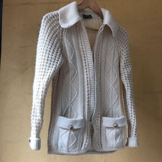 Ladies pure wool cardigan