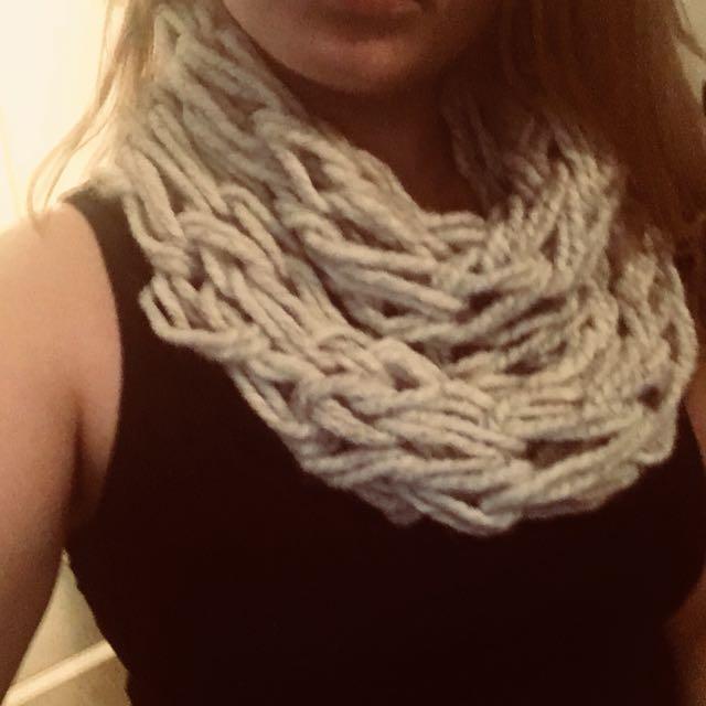 Large knit scarf