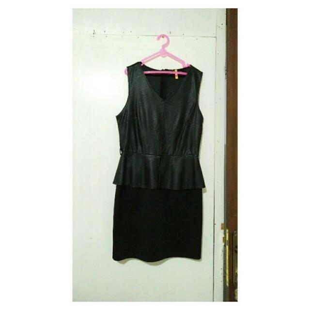 Leather Combi Dress