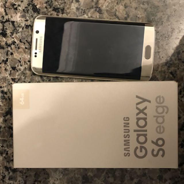 LNIB Samsung Galaxy S6 Edge 64 GB Gold Platinum 9.5/10 Bell Fully Unlocked