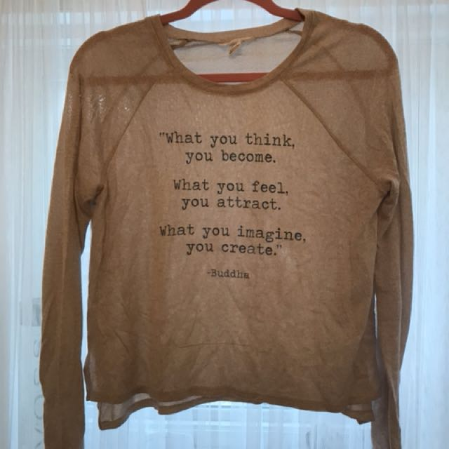 Long sleeve shirt with cool quote