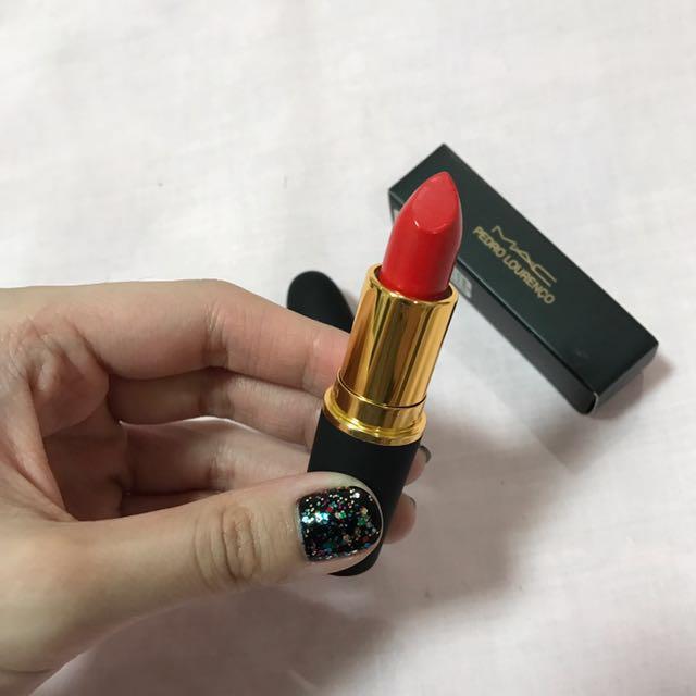 "MAC x Pedro Lourenço ""True Red"" lipstick"