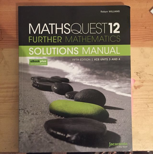 Maths Quest 12 Further Maths Solutions Manual