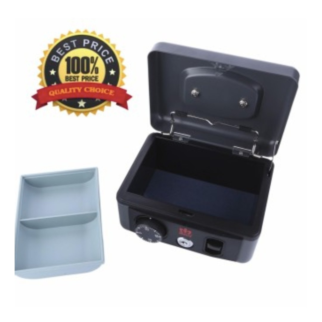 Metal CASH BOX triple fuction,high quality, push button, number lock and  key lock